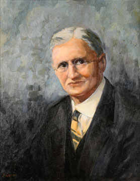 William J. Spillman painting by Worth D. Griffin