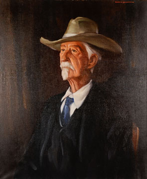 Daniel Boone Watson painting by Worth D. Griffin