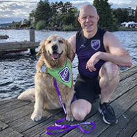 Dash Dog and Ande Edlund (Courtesy @LLS.Washington/Facebook)