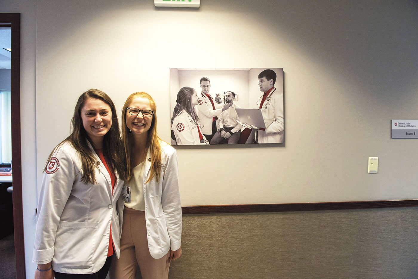 WSU medical college students Becky Gold and Jamie Mackiewicz smiling