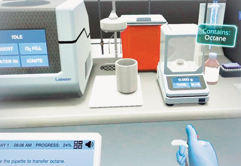 Virtual chemistry lab simulation