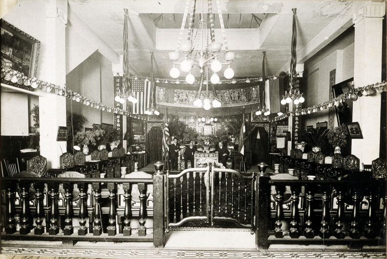 The Chinese Six Companies office in San Franciso in early 20th century