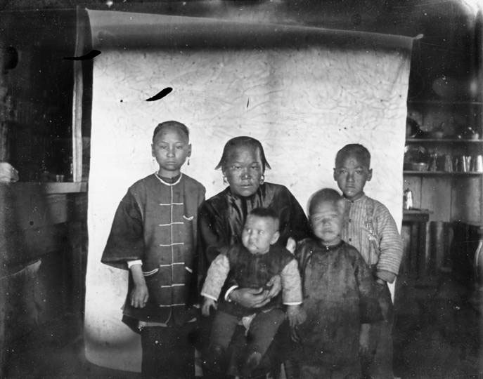 Chinese family in Pullman, 1879