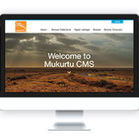 Front page of Mukurtu CMS on a computer screen