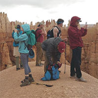WSU students at Zion National park for Outdoor Recreation Center trip