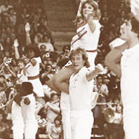 Washington State University cheer squad in the late 1970s