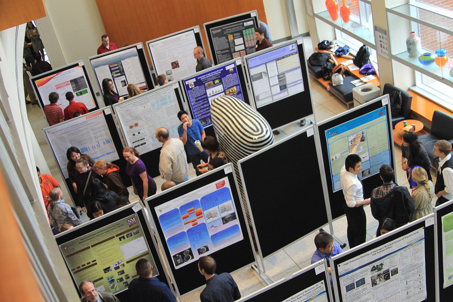 Photo of the poster session underway