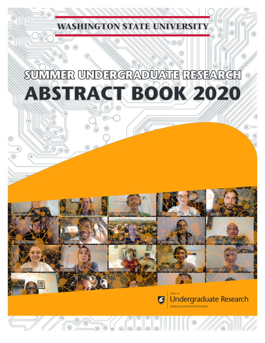 Cover of the Summer Undergraduate Research Abstract Book for 2020.