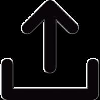 Upload icon transparent