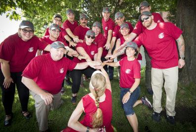 Group photo of WSU softball team