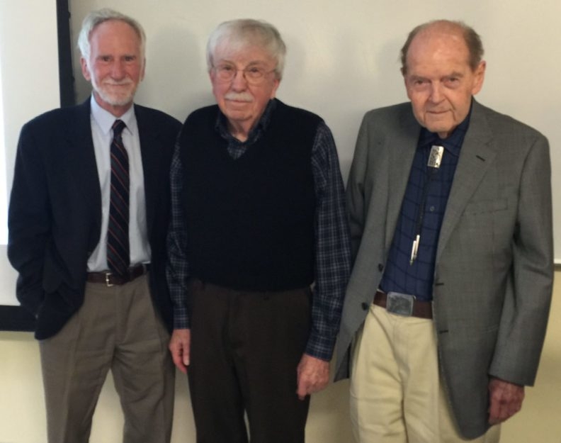 Tim Kohler, Robert Ackerman, and George Hinman pose side-by-side for the camera.